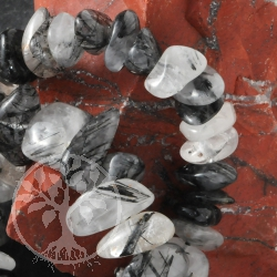 Tourmaline Quartz Bead Bracelet Mahaba