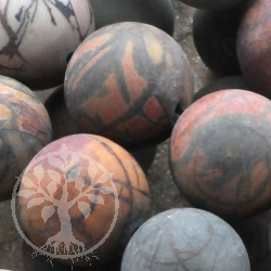 Polychronik spieder Ball Gemstone Beads