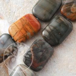 Polychronic Rectangle Gemstone Beads