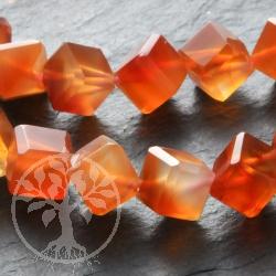 Carnelian Cube Gemstone Beads
