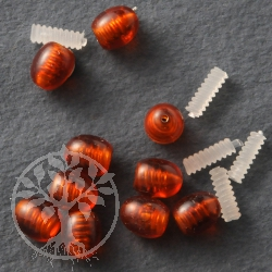 Clasps Amber 25 pieces