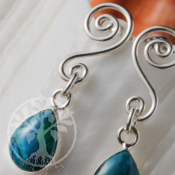 Chrysocolla Twist Earrings