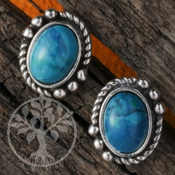 Chrysocolla Ornament Earrings