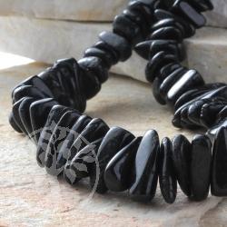 Tourmaline black Freeform Beads