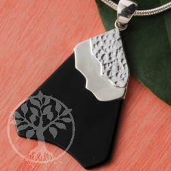 Silver Pendant Black Mountain