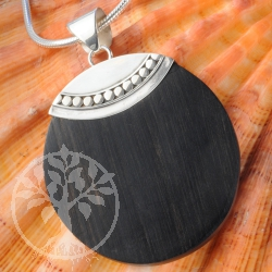 Wood Pendant Sterling Silver Ornaments