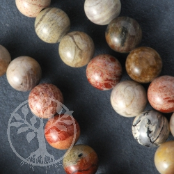 Silver Leaf Jasper Gemsone Beads