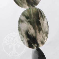 Streifen Moosachat Schmuckperlen
