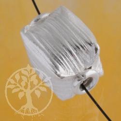 Würfel Silberperle handgefertigt Silber 925 15x11x11mm Silber 925