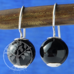 Onyx Earrings Ball