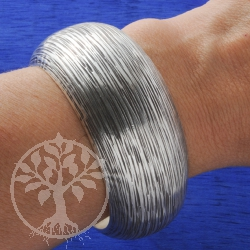 Silber Armreif Bamboo 925 Silber