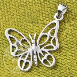 Silber Anhänger Schmetterling