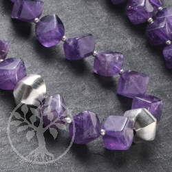 Amethyste Necklace Cube Silver