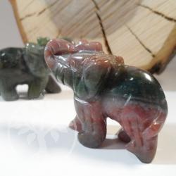 Moosachat Steinelefant Achat Elefant 40mm