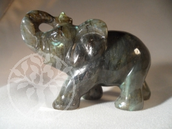 Elefant Labradorit Steinfigur 1