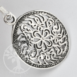 Silver Earring Indian Flower