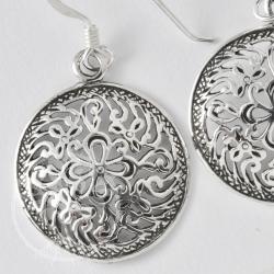 Silber ohrringe  Silber Ohrringe Indische Blume - Edelsteine Grosshandel