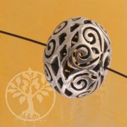 Silberperle Arabesque 14x11mm 925er Silberschmuck Zubehör stabil