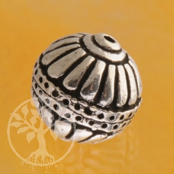 Silber Perle 14mm Globus 925er Silberperle rund