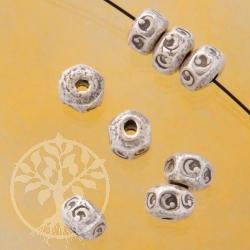 Button Silver Bead