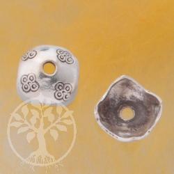Perlkappen Silber Tibet