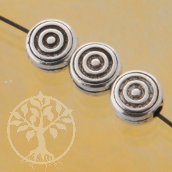 Silver Bead Disc Oxi Sterlingsilver 925