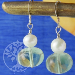 Fluorite Perl Earrings