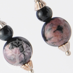 Rodonite Earrings with Blue Tigers Eye