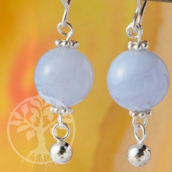 Chalcedony Earrings Silver Bullet