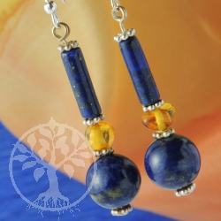 Lapis Lazuli Earrings Evening Star