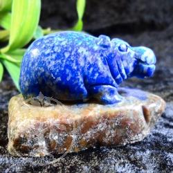 Animal carving Lapis Lazuli.