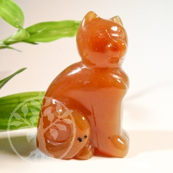 Animal carving Carnelian.