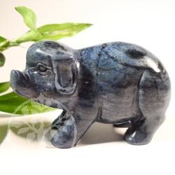 Schwein Dumortierit Steinfigur