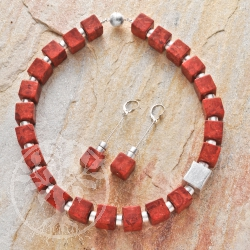 Coral Necklace Earrings