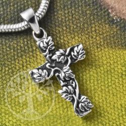 Silber Kreuz Weinrebe 925