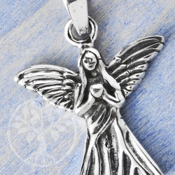 Silver Pendant Guardian Angel