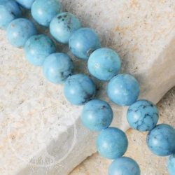 Türkis Perlen Kugel  AA-Qualität Perlenstrang