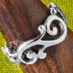 Silver Tendril Ring