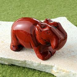 Roter Jaspis Stein Nilpferd