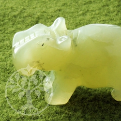 China Jade Gemstone Hippopotamus