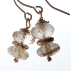 Earring Rutilated Quartz