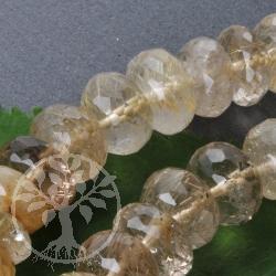 Rutilquarz Schmuckperlen AA Perlen aus feinem Quarz mit Rutil