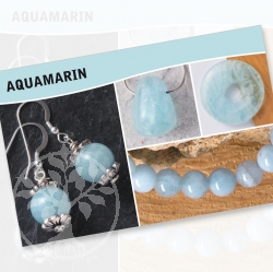 Aquamarin Mineral Stone Description Cards