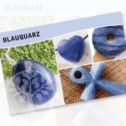 Blauquarz Steine Karte