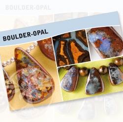 Boulder-Opal Steine Karte