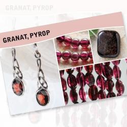 Granat Mineral Stone Description Cards