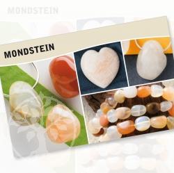 Mondstein Mineral Stone Description Cards