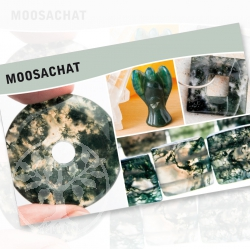 Moosachat Mineral Stone Description Cards
