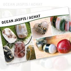Ocean Achat Jaspis Steine Karte