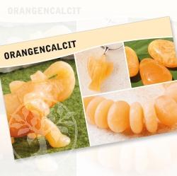 Orangencalcit Steine Karte